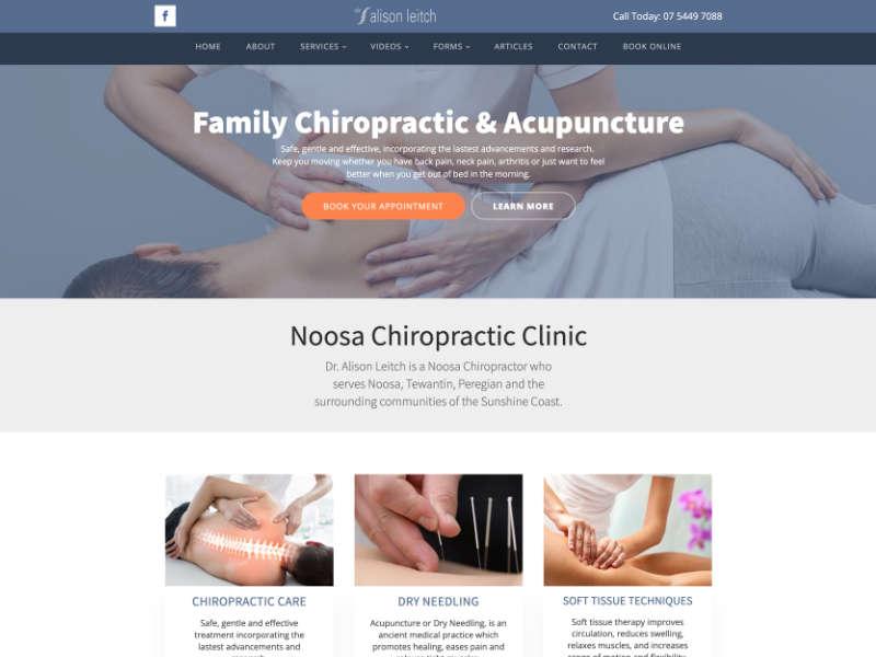 Dr Alison Leitch Chiropractor