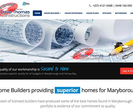 dave thomas constructions website