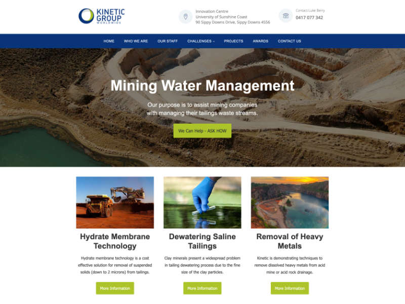 Kinetic Mining Water Management